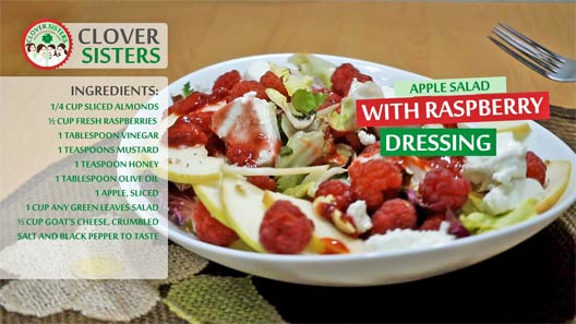 apple salad raspberry dressing recipe