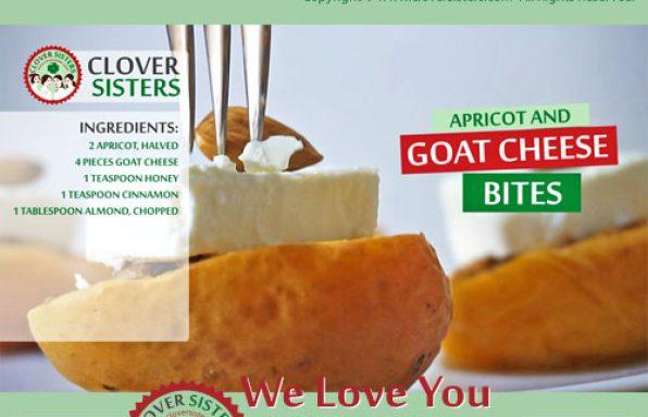 apricot goat cheese bites recipe