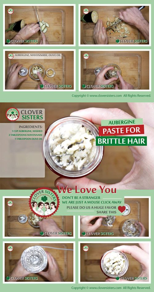 aubergine paste brittle hair remedy recipe