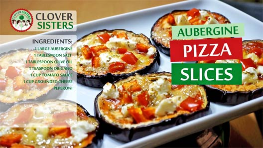 aubergine pizza slices recipe