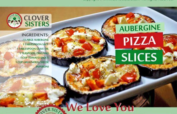 aubergine pizza slices recipe