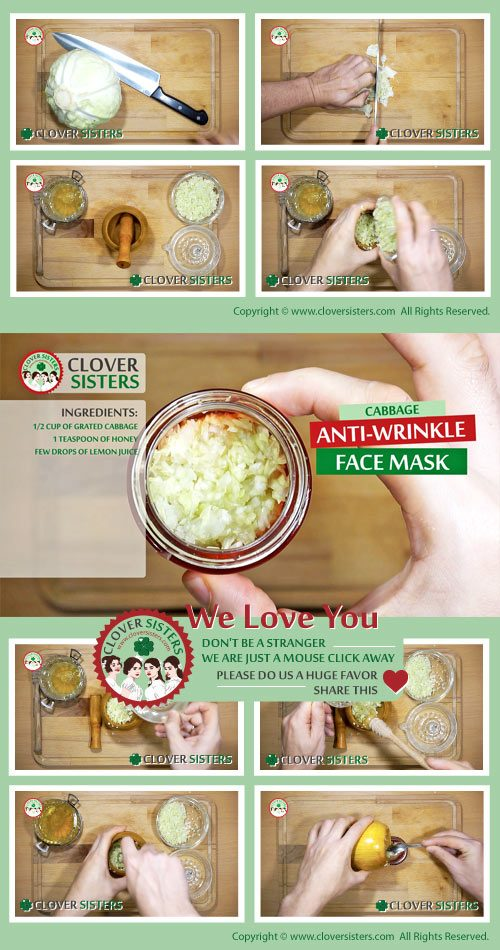 cabbage anti wrinkle face mask recipe