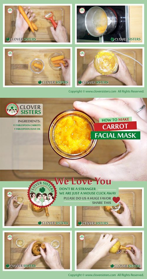 carrot facial mask for skin rejuvenation