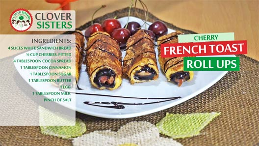 cherry French toast roll ups recipe