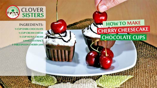 sweet cherry cheesecake chocolate cups recipe