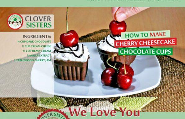 sweet cherry cheesecake chocolate cups recipe