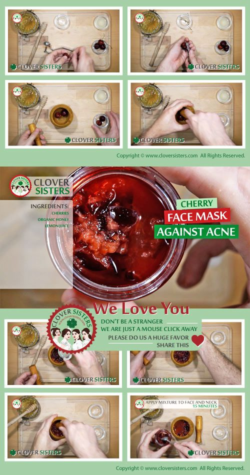 cherry face mask against acne remedy