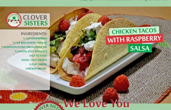 chicken tacos raspberry salsa cheese recipe