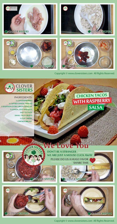 chicken tacos raspberry salsa cheese recipe