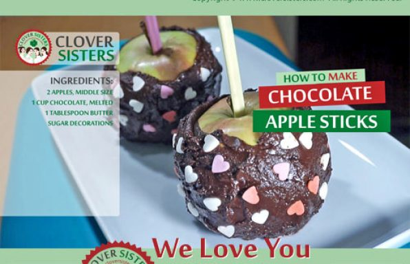 chocolate apple sticks recipe