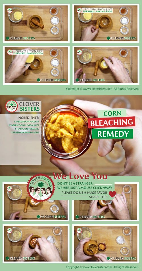 corn bleaching remedy recipe