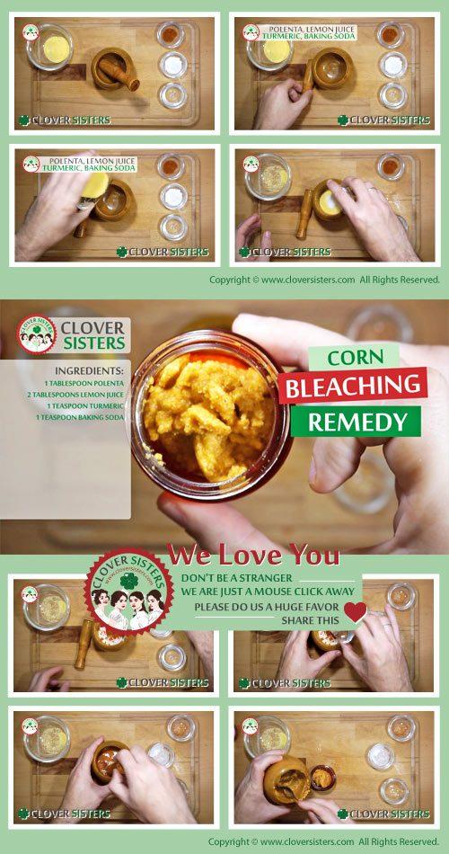corn bleaching remedy recipe