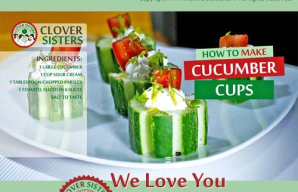 cucumber cups recipe