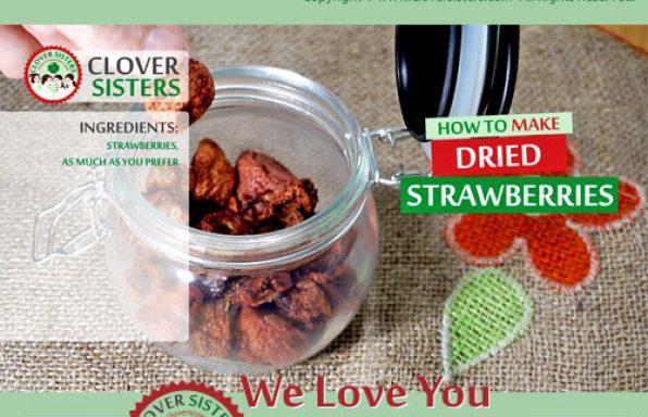 dried strawberries recipe