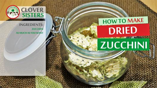 how to dry zucchini
