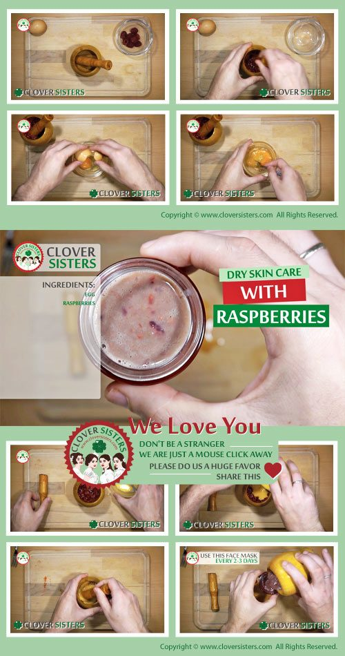 dry skin care raspberries