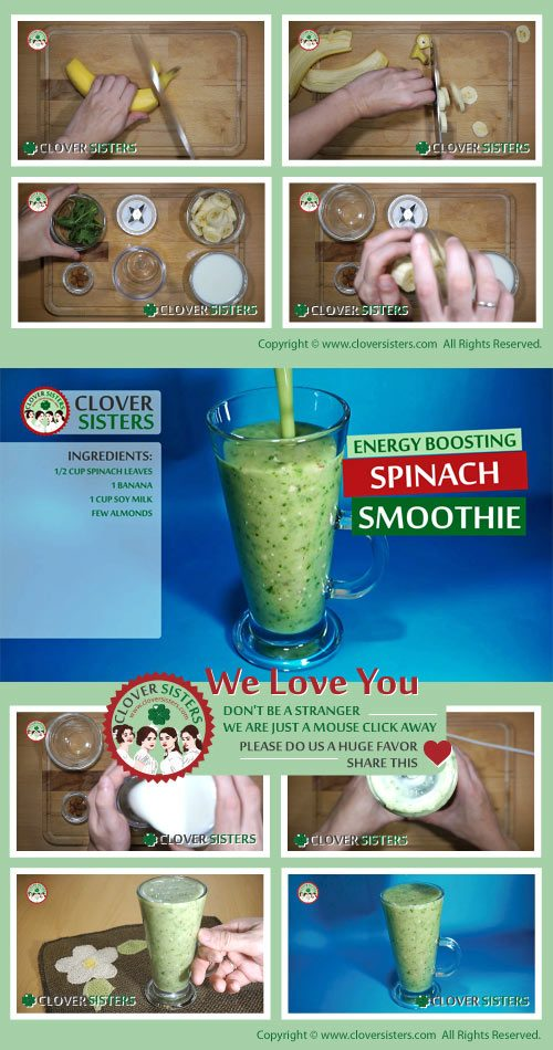 energy boosting spinach smoothie remedy