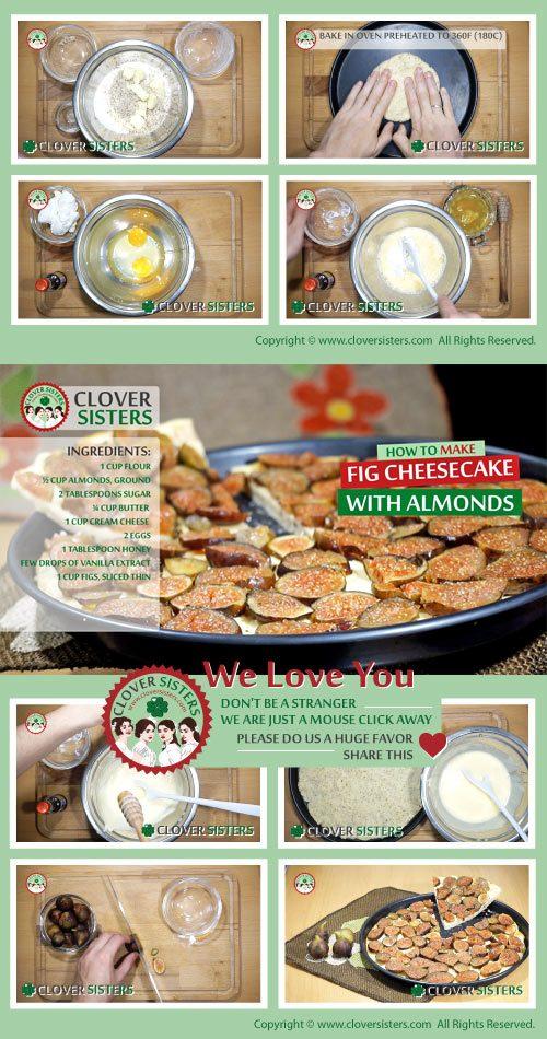 fresh fig cheesecake almonds recipe