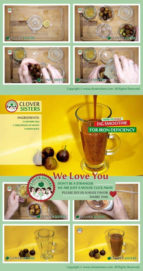 fig smoothie iron deficiency recipe