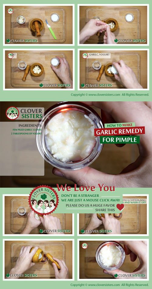 garlic remedy pimple
