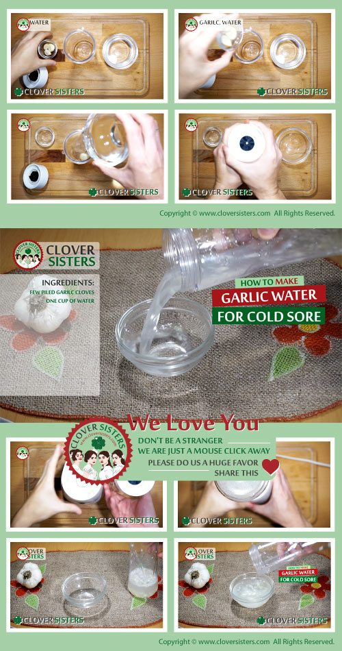 garlic water cold sore recipe