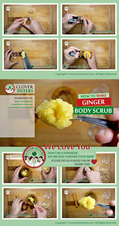 ginger body scrub recipe
