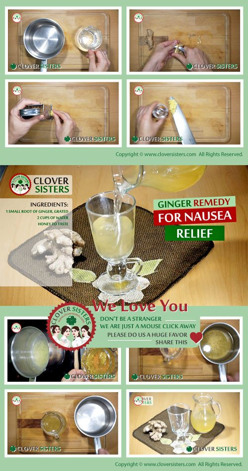 ginger remedy nausea relief recipe