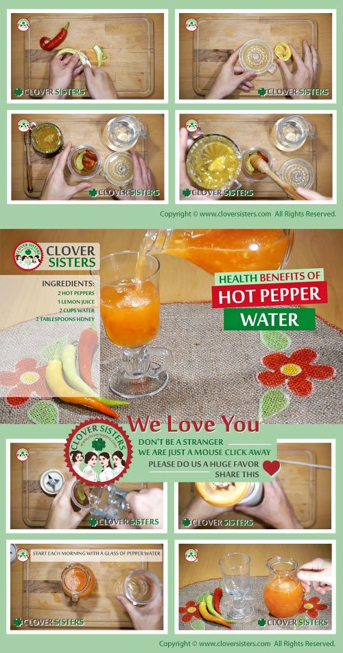 health benefits hot pepper water recipe
