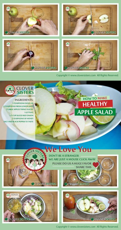 healthy apple salad recipe