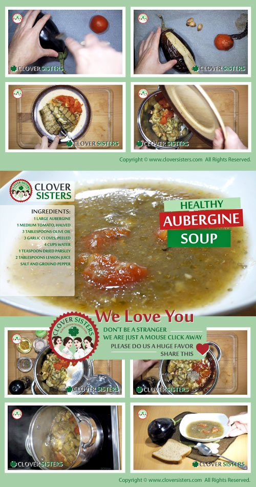 healthy aubergine soup recipe