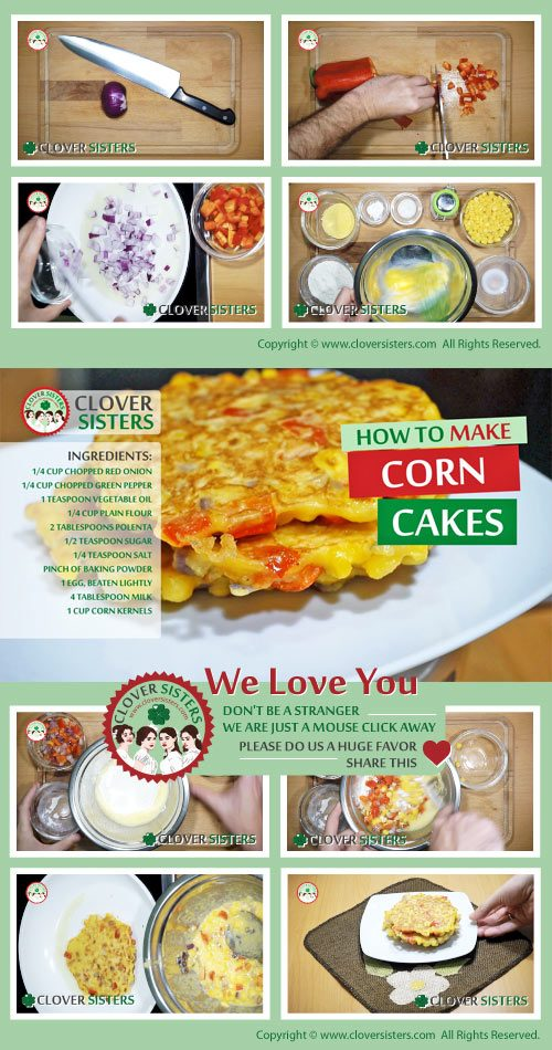healthy corn cakes recipe