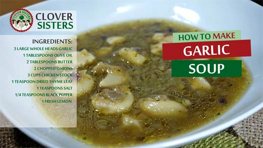 healthy garlic soup recipe