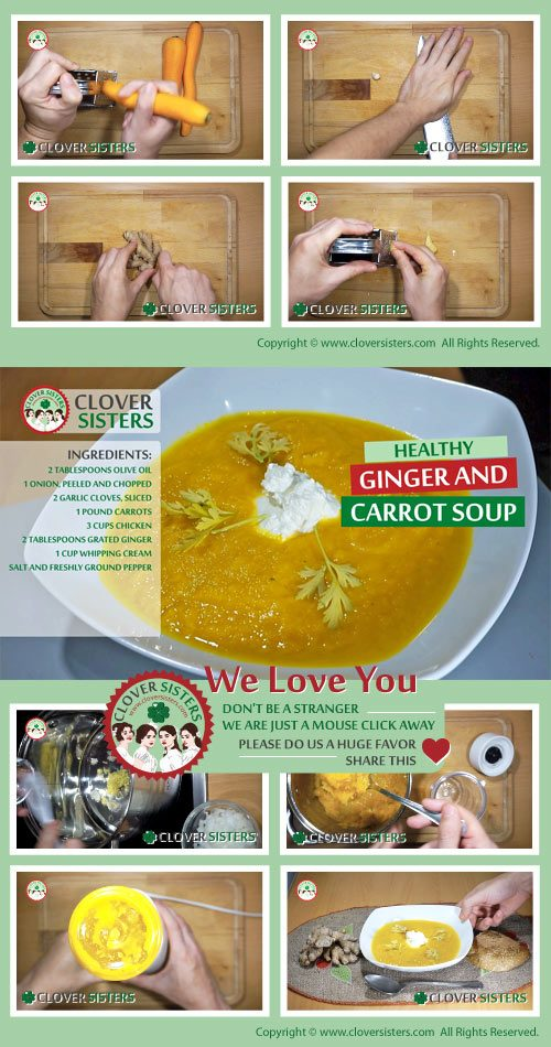 healthy ginger carrot soup recipe