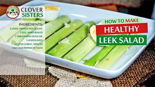 healthy leek salad recipe