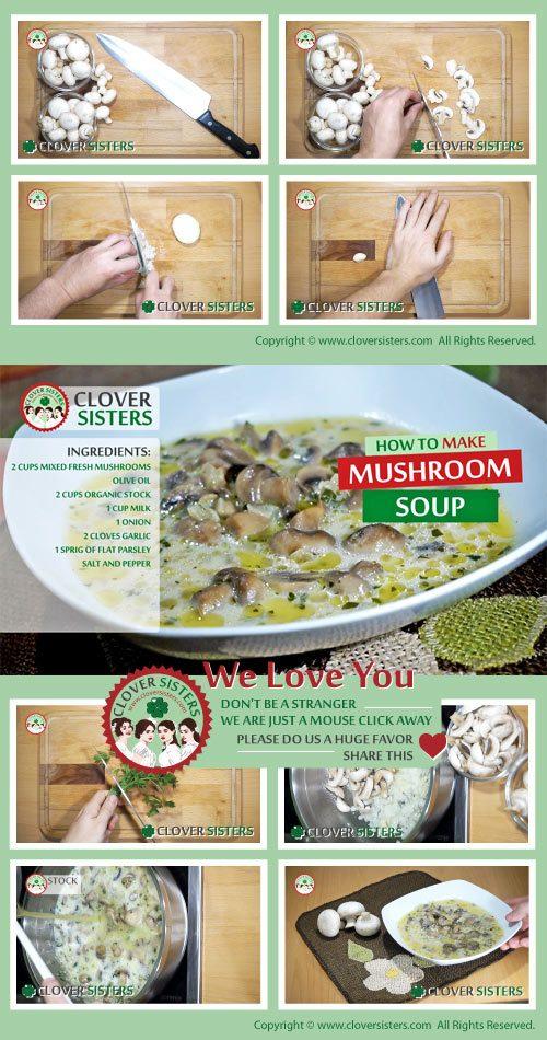 healthy mushroom soup recipe