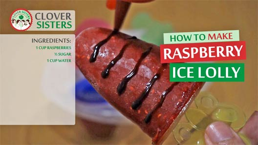 homemade raspberry ice lolly recipe