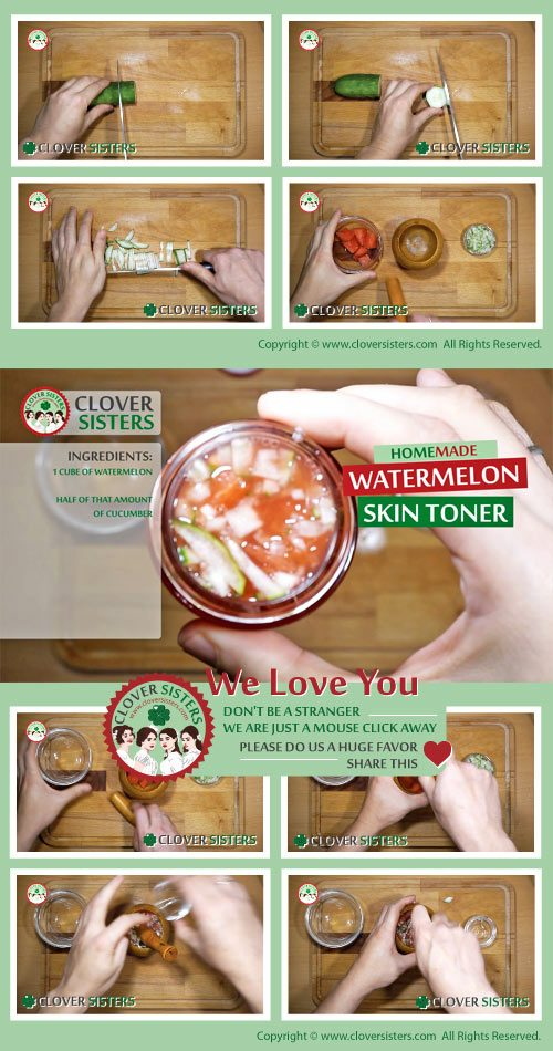 homemade watermelon skin toner