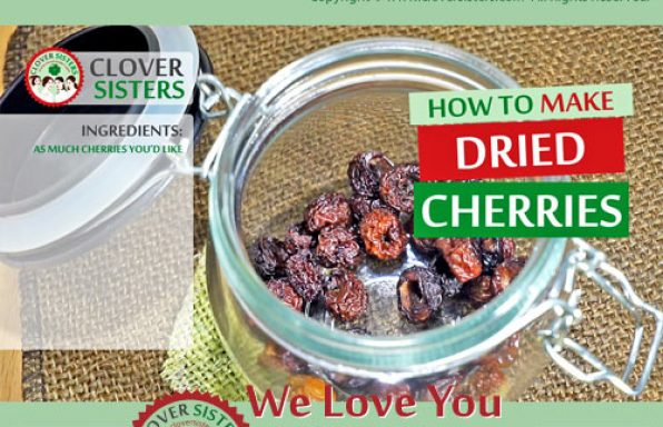 how to dry cherries at home