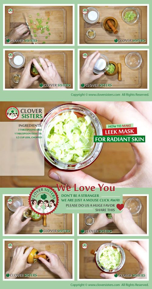 leek mask radiant skin remedy