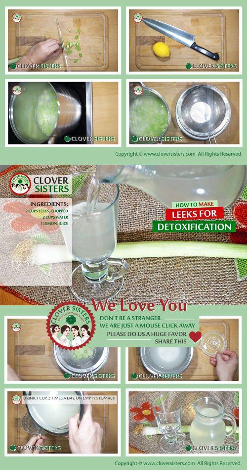 leeks detoxification remedy