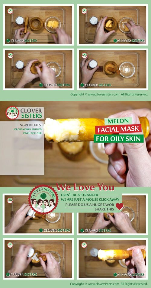 melon facial mask oily skin remedy