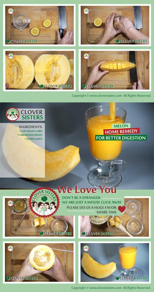 melon home remedy better digestion recepi