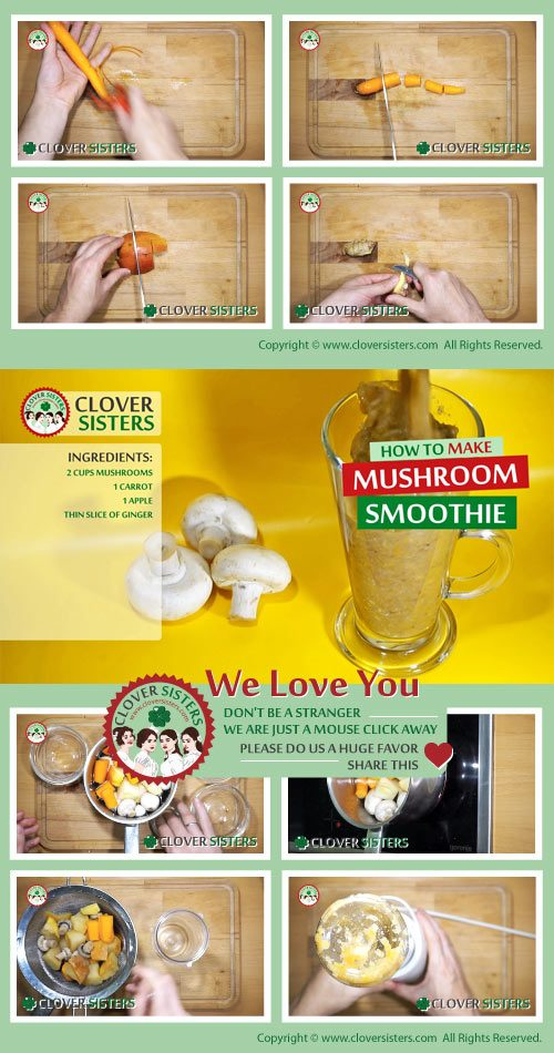 mushroom smoothie general health benefits recipe