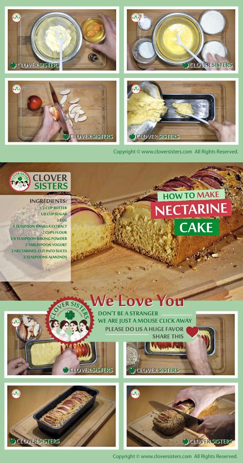 nectarine cake bread recipe