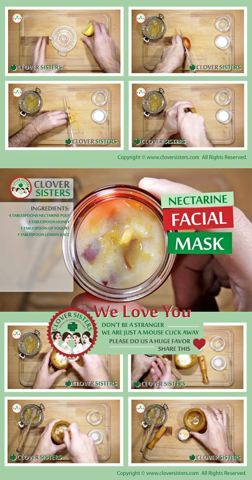 nectarine facial mask remedy