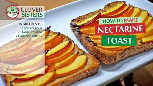 nectarine toast recipe