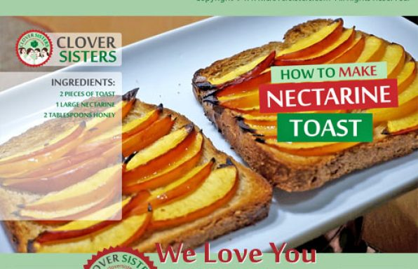 nectarine toast recipe