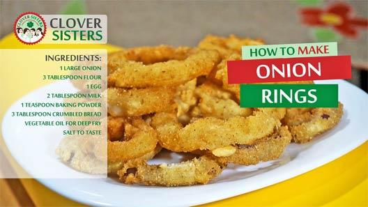 Crispy onion rings recipe - CLOVER SISTERS