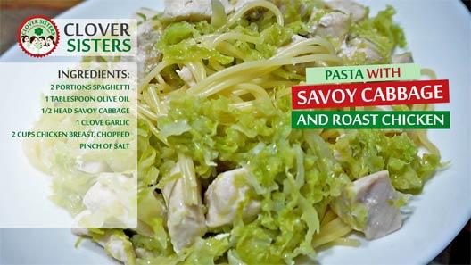 pasta savoy cabbage roast chicken recipe