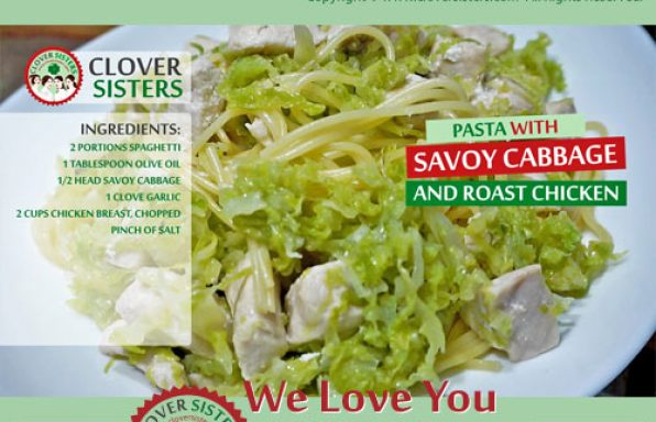 pasta savoy cabbage roast chicken recipe